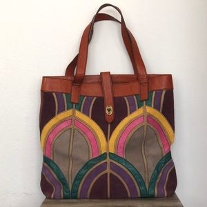 Fossil Peacock Tote (Excellent Condition)